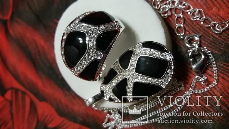 Набор кольцо и кулон, фото №3