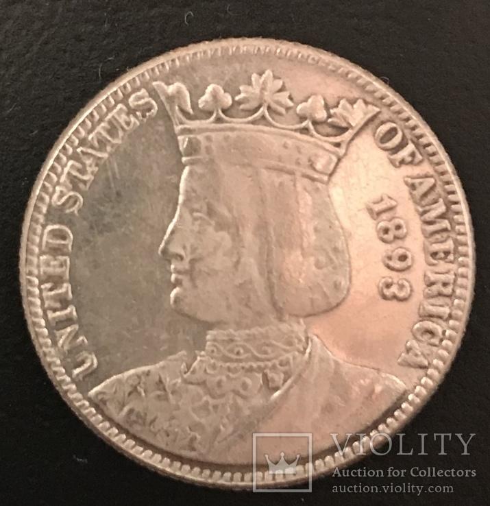 25 центов 1893 г США америка.