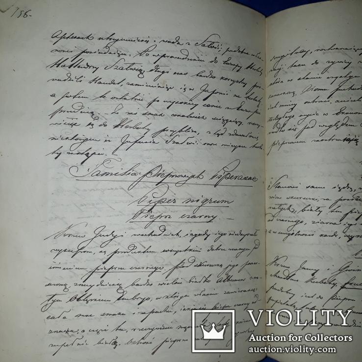 1839 Рукопись ботаника-флориста Станислава Гоского, фото №9