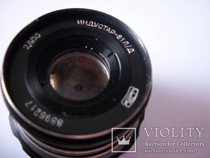 Индустар-61-лд черный м-39  без крышек [чистые линзы], фото №3