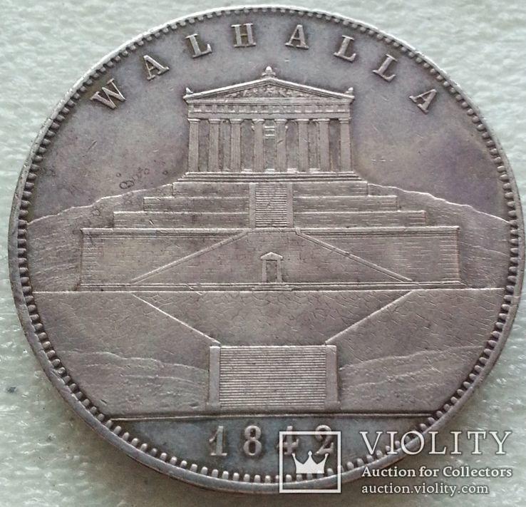 """Бавария Людвиг I Двойной Талер 1842 """"Валхалла"""", фото №8"""