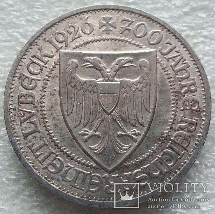 Веймар Любек 3 марки 1926 г.
