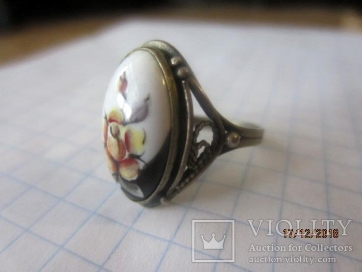 Кольцо и кулон мельхиор финифть, фото №5