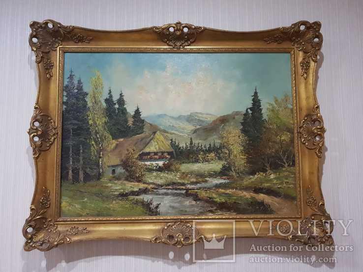 Альпийский Пейзаж, Масло, Холст, (Алоиз Фрюмессер)