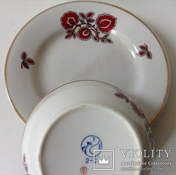 Сервиз Красный цветок. Фарфор, Тернополь., фото №4