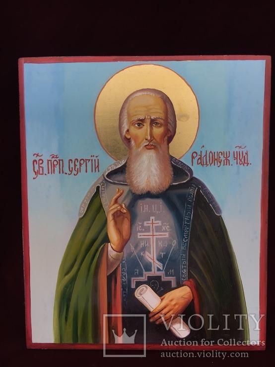 Икона Сергей Радонежский, фото №2
