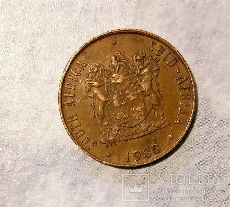 ЮАР 2 цента 1988, фото №3