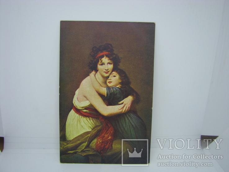 Открытка Мама с дочкой., фото №2