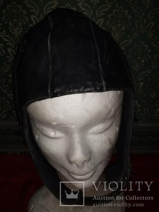 Летный Шлем .1959года кожа, фото №6