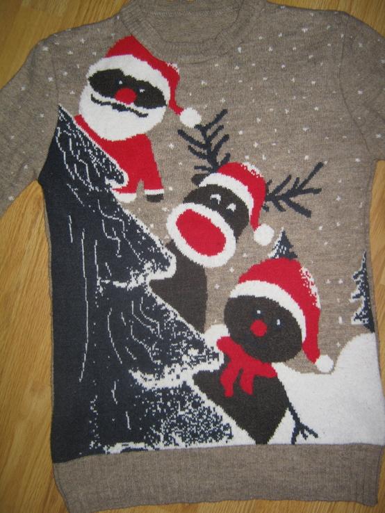 Тепла новорічна кофта з оленями роз.m