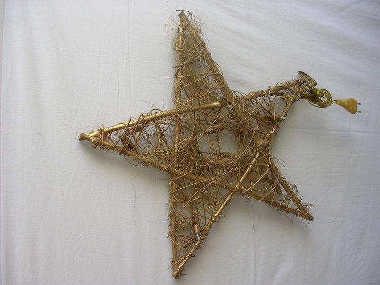 Новогодняя гирлянда звезда