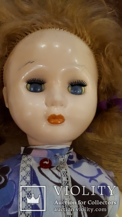 Старая кукла .57 см., фото №3