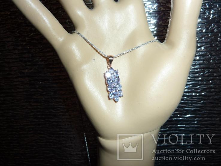 Ожерелье с натуральными танзанитами, фото №3