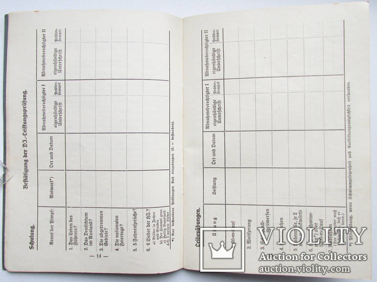 III REICH книга награждений Leistungsbuch Гитлер Югенд HJ Hitler Jugend 1936 года., фото №11