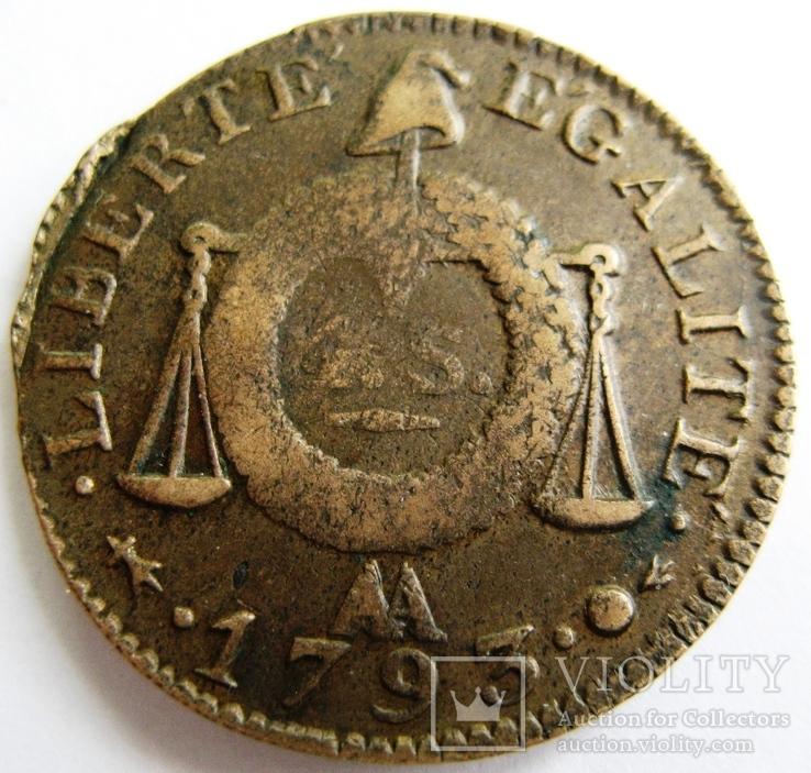 Франция, 1 sol 1793 AA L'AN II