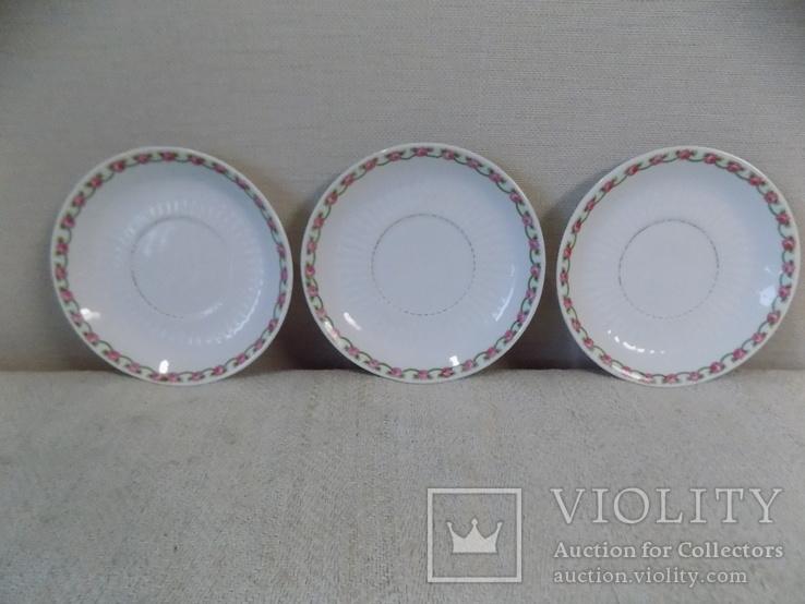 Три порцелянові блюдечка арт-деко з клеймом Austria, фото №3