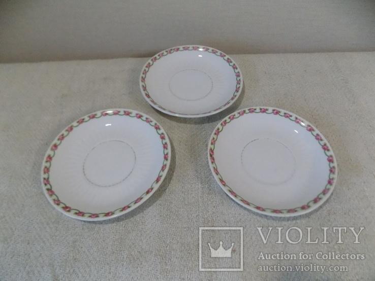 Три порцелянові блюдечка арт-деко з клеймом Austria, фото №4