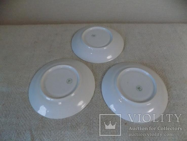 Три порцелянові блюдечка арт-деко з клеймом Austria, фото №5