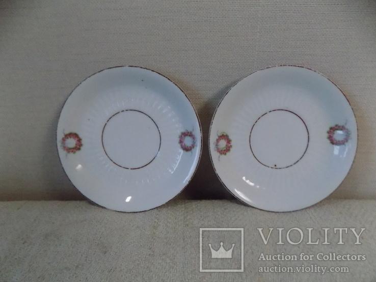 Два порцелянових блюдця арт-нуво з клеймом Austria, фото №3