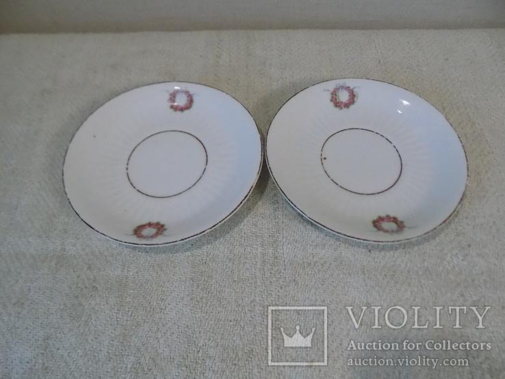 Два порцелянових блюдця арт-нуво з клеймом Austria, фото №5