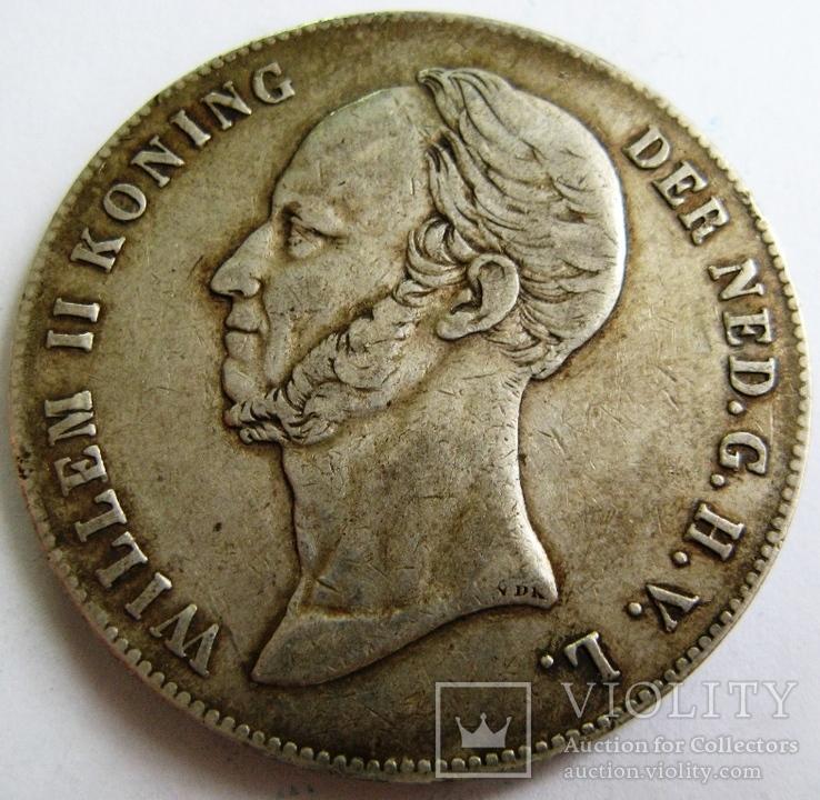 """Нидерланды, 2,5 гульдена 1847 """"WILLEM II"""""""