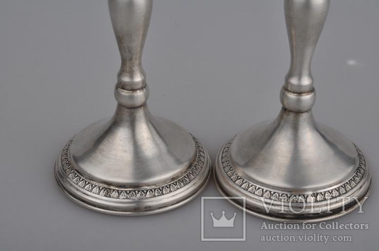 Подсвечники. Серебро 925., фото №13