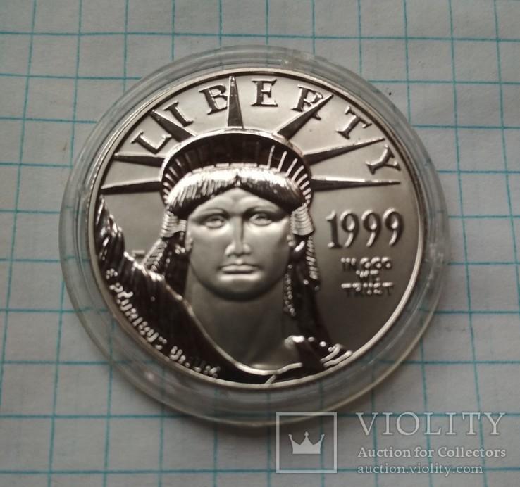 США 100 долл. 1999 г. унция платины