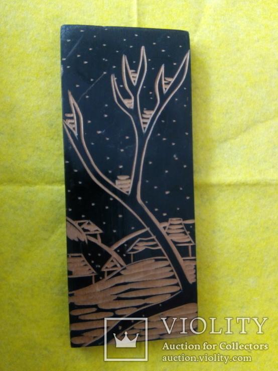 Деревянная настенная живопись, фото №2