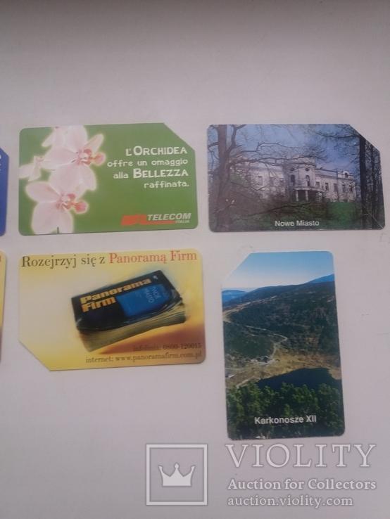 Набір з 9 телефонних карток, фото №4
