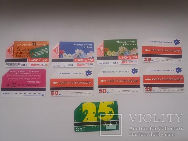 Набір з 9 телефонних карток, фото №5