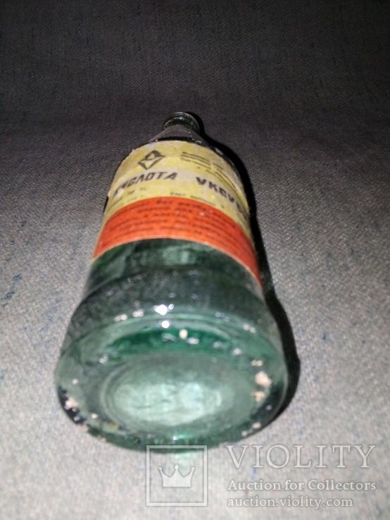 Бутылка с уксусной кислоты времен ссср, фото №4