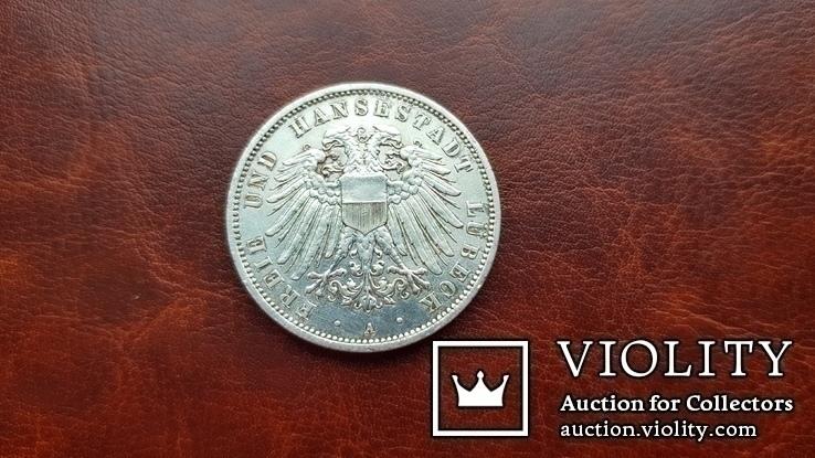 3 марки 1912 г.  Свободный город Любек., фото №4