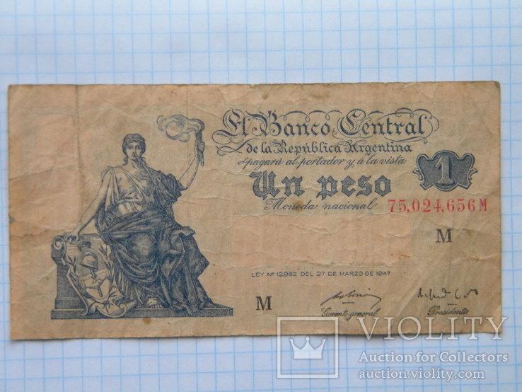 1 UN PESO Republika Argentina 1947