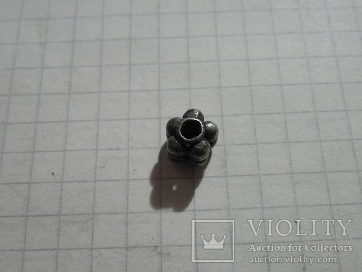 Бусина КР серебро, фото №5