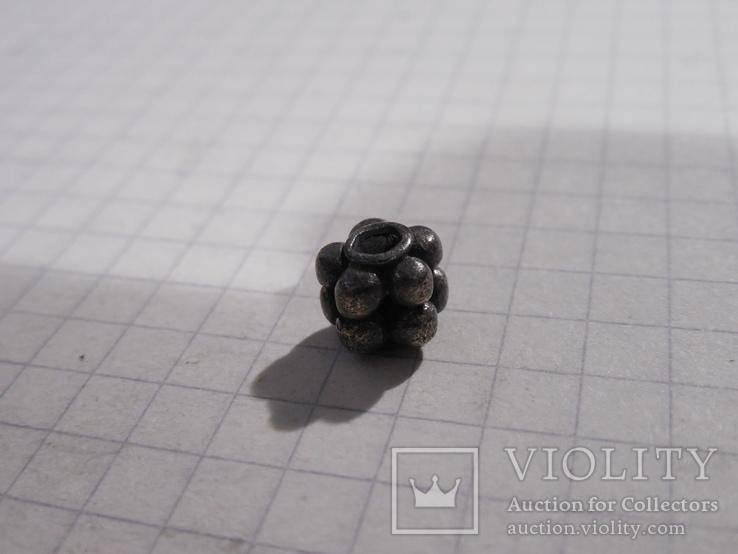 Бусина КР серебро, фото №9