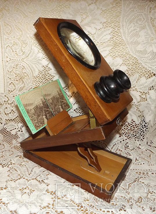Стереоскоп для просматривания стереопар и маленьких фотографий