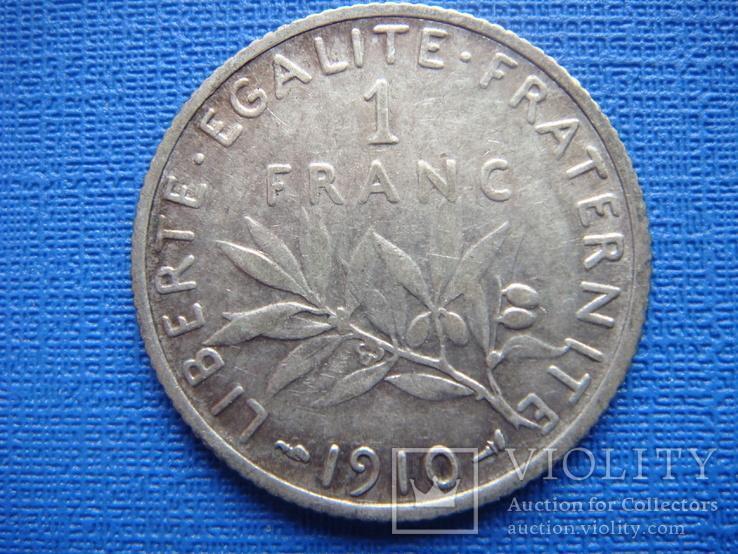 1 франк 1910,Франция, фото №2
