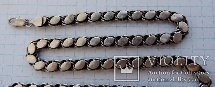 Цепь серебро 46 см №151, фото №3