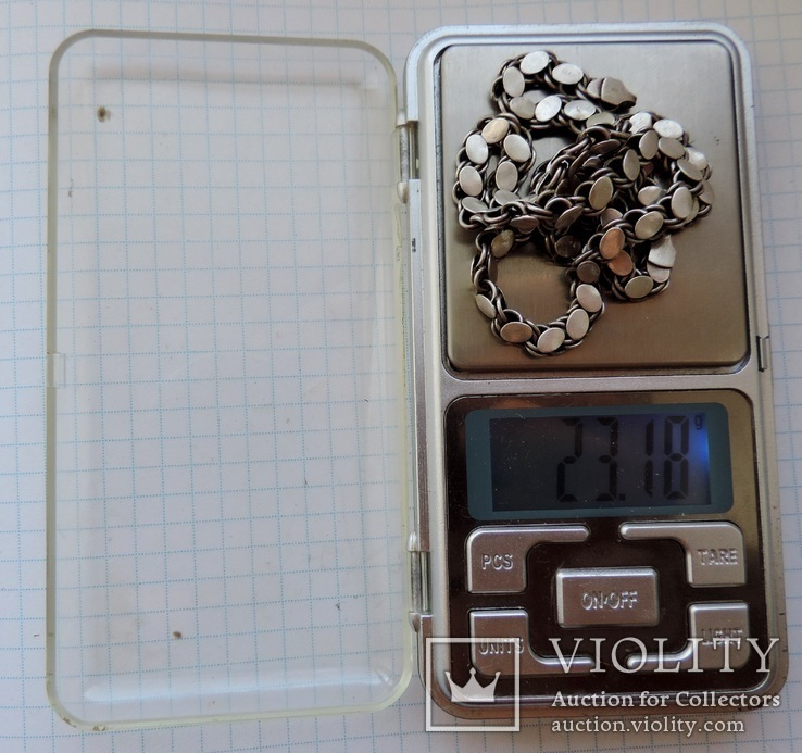 Цепь серебро 46 см №151, фото №7