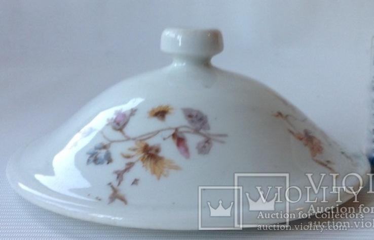 Крышка от вазы суповой старинной. Фарфор. Предположительно-Кузнецова., фото №5