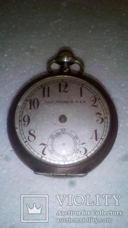 Срібний годинник Аlf.Moser