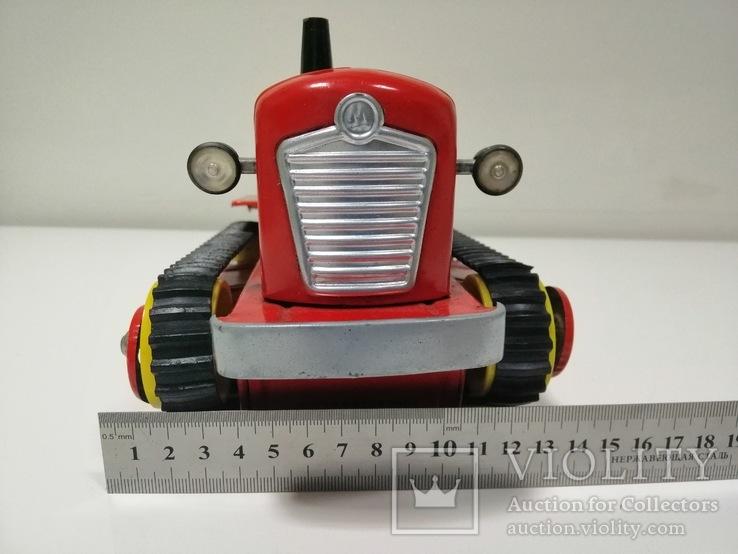 Раритетная игрушка ГДР бульдозер из жести., фото №3