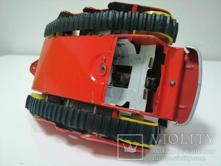 Раритетная игрушка ГДР бульдозер из жести., фото №5