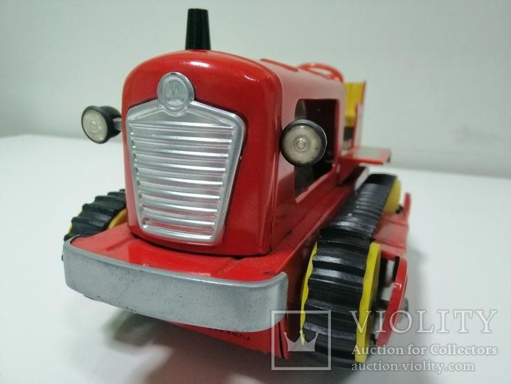 Раритетная игрушка ГДР бульдозер из жести., фото №6