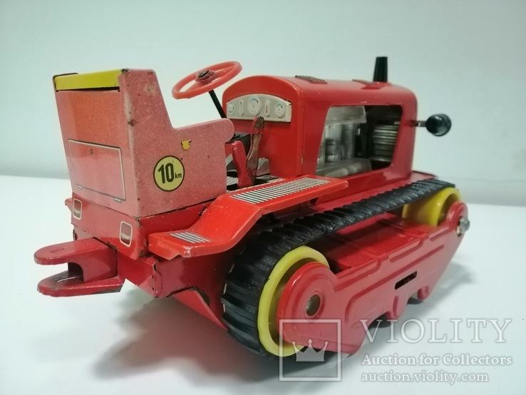 Раритетная игрушка ГДР бульдозер из жести., фото №11