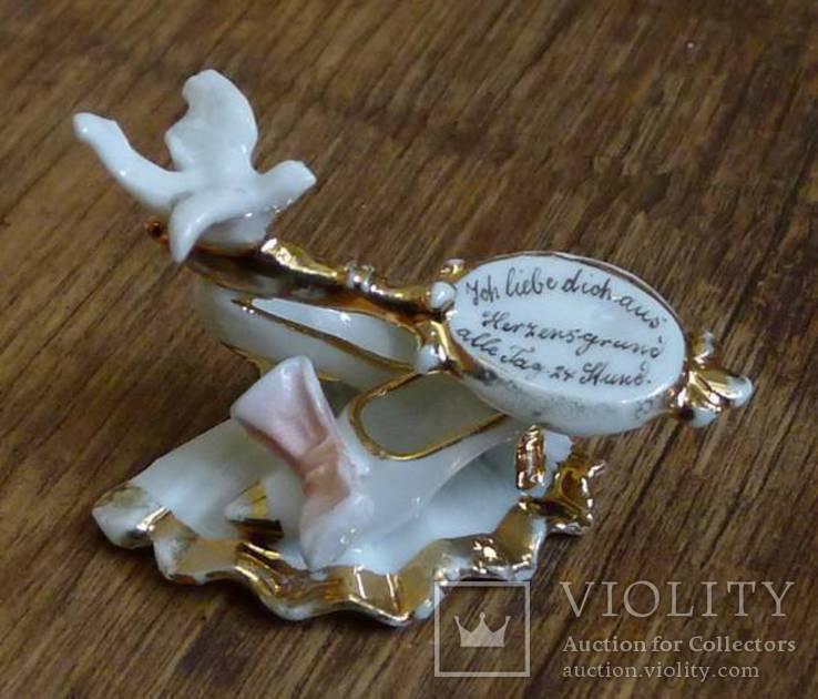 """Германская старинная миниатюра """"Я люблю тебя от всего сердца 24 часа в сутки"""", фото №2"""