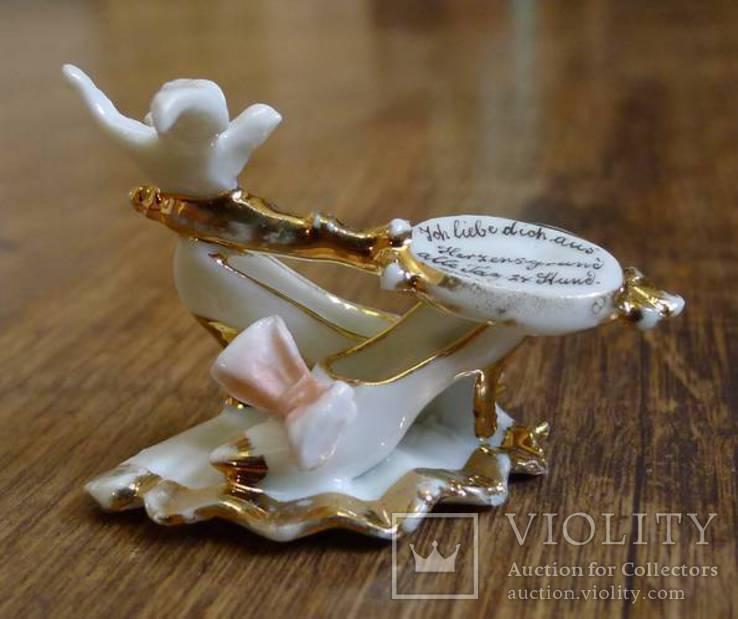 """Германская старинная миниатюра """"Я люблю тебя от всего сердца 24 часа в сутки"""", фото №5"""
