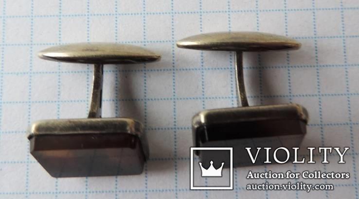 Запонки серебренные №19, фото №3