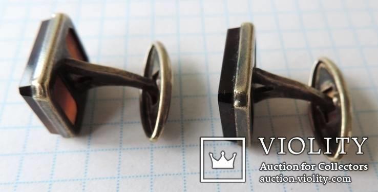 Запонки серебренные №19, фото №5