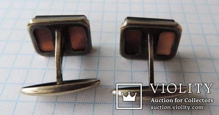 Запонки серебренные №19, фото №7